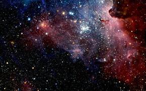 Picture Stars, Nebula, NGC 3372, Close-Up, VLT, Constellation of Carina, HAWK-I camera