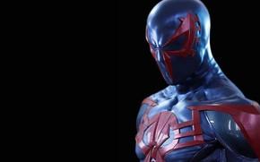 Picture background, hero, costume, spider-man 2099, spider-man 2099