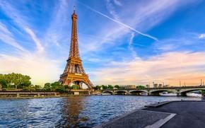 Picture Eiffel tower, Paris, Bridge
