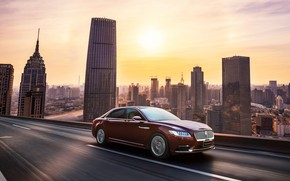 Picture road, auto, Lincoln, the city, speed, Continental, 3.0T AWD