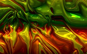 Picture line, orange, yellow, abstraction, green, divorce, structure, substance, plasma, malleability, melting, diffusion, mix, mixing, environment, ...