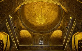 Picture mosque, the dome, Uzbekistan, Samarkand