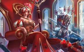 Picture hon, art, Heroes of Newerth, Ellonia, Queen of Hearts
