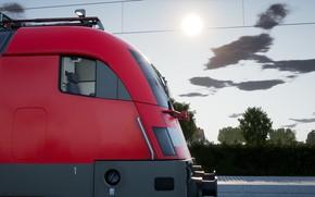 Picture Germany, Locomotive, Train, Train, Russia, Siemens, Electric, Train Sim World 2020