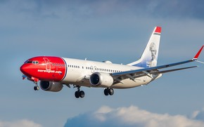 Picture Boeing, Norwegian Air Shuttle, 737-8