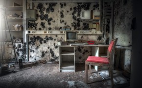 Picture computer, chair, office, naturalism