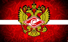Picture Red, Sport, Flag, Logo, Football, Eagle, Background, Emblem, Coat of arms, Russia, Club, Hockey, Spartacus, …
