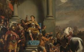 Picture oil, picture, canvas, history, Ferdinand Bol, Plenty Of Ferdinand, The Consul Titus Manly decapitates his …