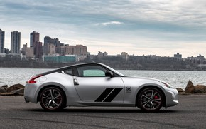 Picture coupe, profile, Nissan, 370Z, 50th Anniversary Edition, 2020, 2019, black and silver grey