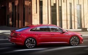 Picture red, street, Volkswagen, R-Line, liftback, 2020, Arteon