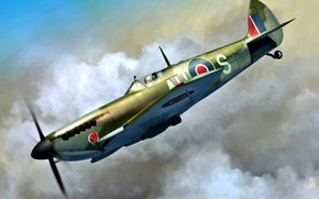 Picture fighter-bomber, Supermarine Spitfire, Spitfire Mk.XVI, The Engine Is A Packard Merlin 266