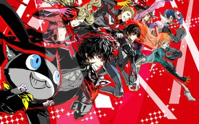 Picture anime, art, characters, Person 5, Persona 5