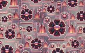 Picture background, graphics, texture, geometry, digital art