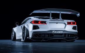 Picture White, Machine, Car, Chevrolet Corvette, Supercar, Rendering, Supercar, Custom, Sports car, Sportcar, Javier Oquendo, by …