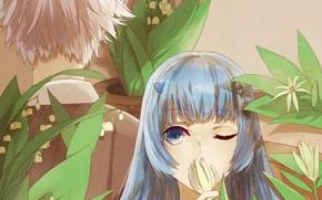 Picture girl, plants, guy, Katekyo Hitman reborn, Teacher mafia Reborn