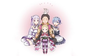 Picture cat, bows, the maid, striped stockings, Beatrice, pak, life from scratch in another world, re …