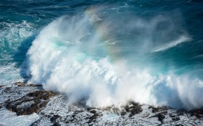 Picture squirt, wave, rainbow