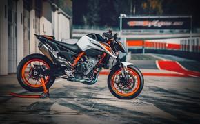 Picture orange, track, ktm, motocycle, ktm duke, Ktm 890 duke