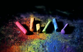 Picture COLOR, CRAYONS, RAINBOW