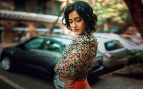 Picture girl, street, Siddhi