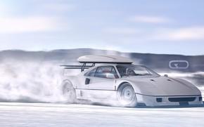 Picture Auto, Machine, Star Wars, Ferrari, Digital Art, Rendering, Ferrari F40, Sports car, Ferrari F-40, F-40, …