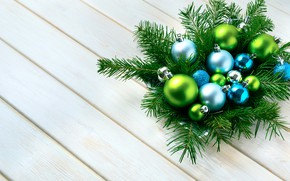 Picture branches, holiday, balls, Christmas, ate, decor, composition