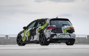 Picture Volkswagen, rear view, Golf, 2018, Golf R, ABBOT, Abstract Concept