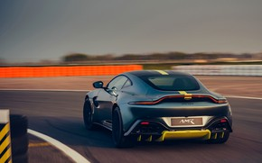Picture Aston Martin, coupe, Vantage, track, rear view, Manual transmission, AMR, 2019, 510 HP, 4 L., …