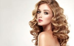 Picture look, girl, face, makeup, curls, edwardderule