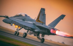 Picture The fast and the furious, Chasse, The mechanization of the wing, F/A-18 Hornet, F/A-18, The …