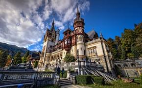 Picture castle, architecture, Romania, Romania, Sinai, Peles Castle, Peles Castle, Sinaia