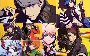 Picture collage, characters, Persona, Person