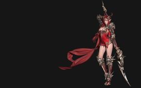 Picture weapons, warrior, fantasy, art, Goddess of Dragon, Xie Hai Hua .