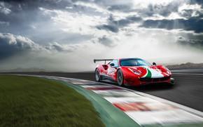 Picture Ferrari, sports car, track, Evo, GT3, 488, Ferrari 488