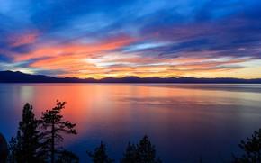 Picture mountains, evening, horizon