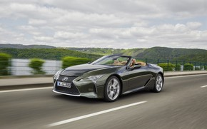 Picture speed, Lexus, convertible, 2021, LC 500 Convertible