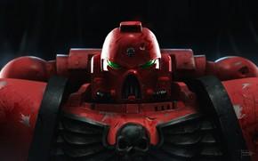 Picture fiction, helmet, armor, warhammer, art, space marine, warhammer 40k, bloody sons