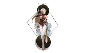 Picture Girl, Fantasy, Beautiful, Art, Style, Background, Illustration, Elf, Minimalism, Character, NESSI