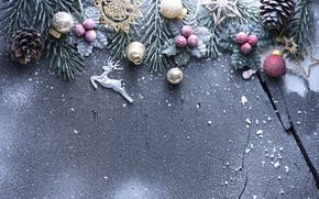 Picture winter, snow, decoration, New Year, Christmas, Christmas, wood, winter, snow, New Year, decoration, Merry, fir …