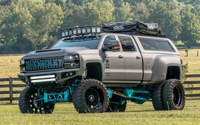 Picture Chevrolet, Silverado, Vehicle, Off road, American Force