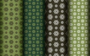 Picture flowers, green, background, pattern
