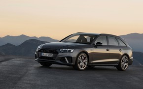 Picture the sky, mountains, Audi, universal, 2019, A4 Avant
