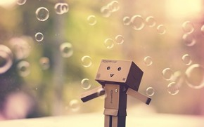 Picture background, bubbles, Danboard, danbo, Danbo (Danboard)