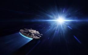 Picture Space, Star Wars, Jump, Art, Star Wars, Fiction, Spaceship, Spaceship, Millennium Falcon, Science Fiction, Spacecraft, …
