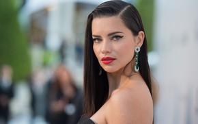 Picture look, earrings, makeup, Adriana Lima, Adriana Lima, photoshoot, look, Hair, Victoria's Secret, makeup, earrings, supermodel