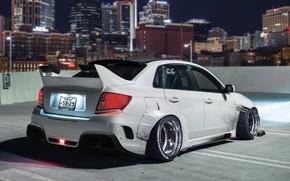 Picture Auto, Night, The city, White, Subaru, Machine, City, Car, Auto, Night, White, Transport & Vehicles, …