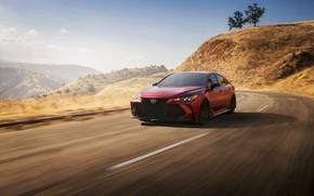 Picture road, red, Toyota, sedan, Avalon, TRD, 2020