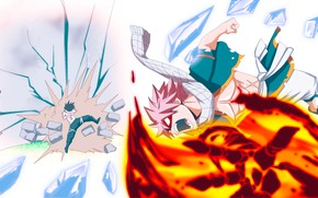 Picture blow, Fairy Tail, Natsu Dragneel, Fairy Tail, Grey Fullbuster