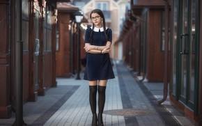 Picture look, girl, pose, dress, Galaev Eugene