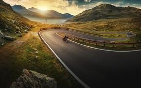 Wallpaper road, morning, goby
